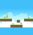 game background style with sky landscape vector image vector image