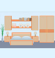 graceful bedroom interior with furniture vector image vector image