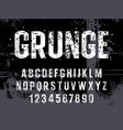 grunge alphabet 014 vector image vector image