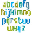 Handwritten contemporary lowercase letters doodle vector image