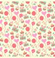happy birthday pattern in vector image vector image