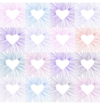 Heart transparent pattern background vector image vector image