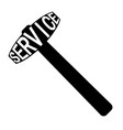 icon service center logo sign hammer vector image