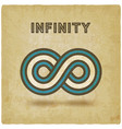 infinity abstract sign design element vintage vector image vector image