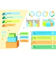 Infographic Set Flat Design Business vector image