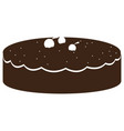 isolated cake silhouette vector image vector image