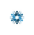 jewish community logo template with human icon vector image