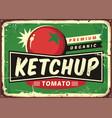 ketchup retro sign vector image vector image