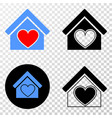 love house eps icon with contour version vector image vector image