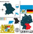 map bavaria vector image