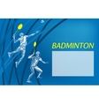 Mens doubles badminton players Color vector image vector image