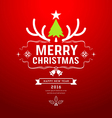 Merry Christmas and happy new year design vector image vector image