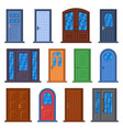 modern doors front entrance doors house vector image