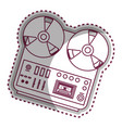 musical recorder console icon vector image