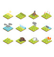 nature disaster concept set 3d isometric view vector image vector image
