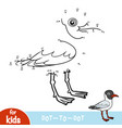 numbers game black-headed gull vector image vector image