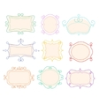 Outline Frames Emblems Mono Line Graphic vector image