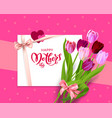 pink holiday mothers day vector image vector image