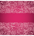 Pink ornamental card with lace vector image vector image