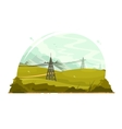 Power lines electricity vector image