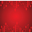 Red arrow background vector image vector image
