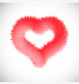 red heart with fur effect vector image