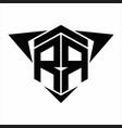 rr logo monogram with wings arrow around design vector image vector image