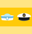 sailor hat set marine captain clothing vector image vector image