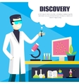 Scientist And Laboratory Discovery vector image vector image