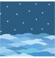 seamless pattern made from night sky with clouds vector image vector image
