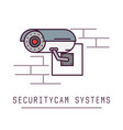 security cam system vector image vector image