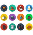 Set of fitness icons in flat design vector image