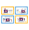 site under construction landing page template set vector image vector image