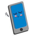 sleeping mobile phone on white background vector image vector image