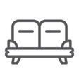 sofa line icon furniture and home couch sign vector image