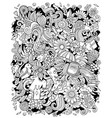 spring hand drawn doodles vector image vector image