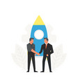 startup business businessmen make a vector image