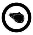 steak icon black color in circle vector image vector image