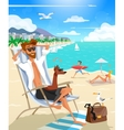 Summer Holiday Man On Beach vector image