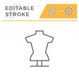 tailors dummy line icon vector image