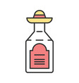 tequila color icon mexican strong alcoholic drink vector image