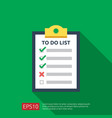 to do list or planning icon in flat style concept vector image