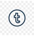 tumblr social media icon design template vector image vector image