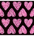 Valentines Day Heart Glitter Pattern vector image vector image