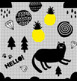 wallpaper in modern scandinavian style with cats vector image vector image