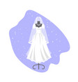 wedding dress on mannequin vector image vector image