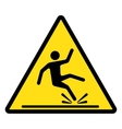 Wet floor caution sign vector image vector image