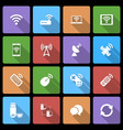 Wireless Devices Icons Set with Long Shadow vector image vector image
