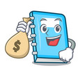 with money bag education character cartoon style vector image vector image