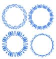 Set floral ornate round frames for your design of vector image